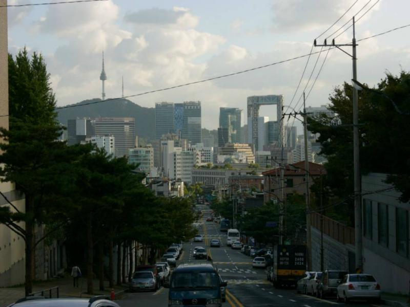 Blick auf Downtown Seoul