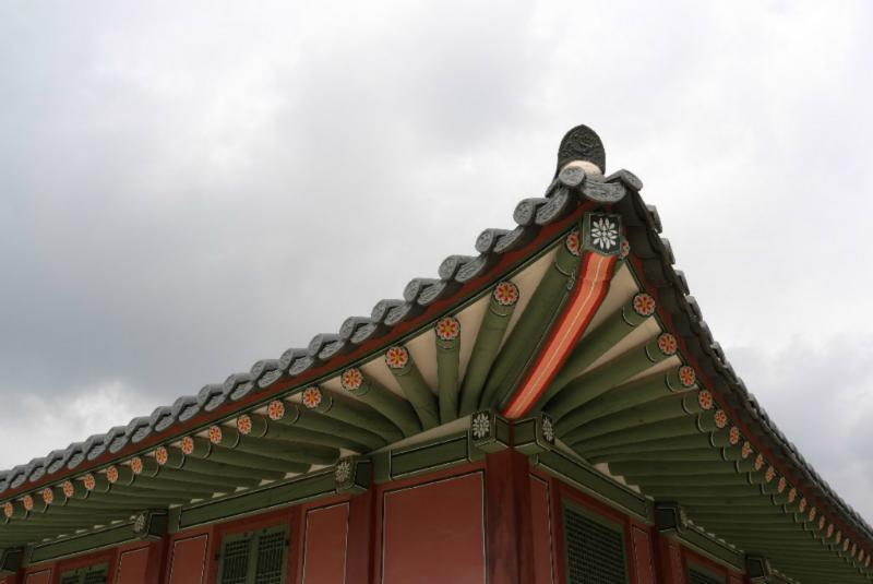 Typische Dächer mit koreanischem Schwung...