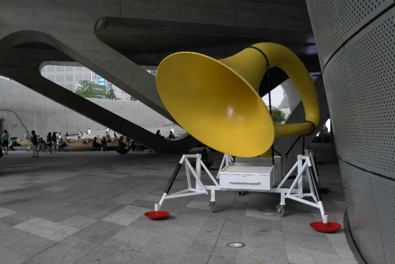 Kunstinstallationen - the Music has landed?