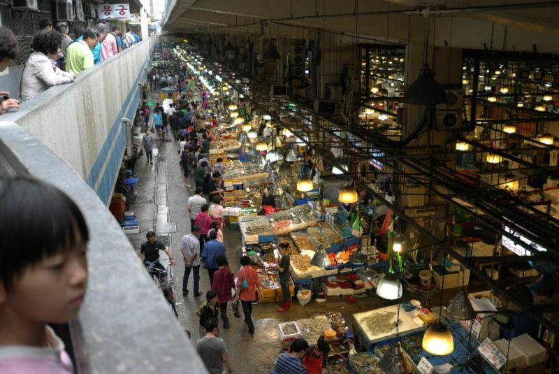 Norianji Fischmarkt in Seoul