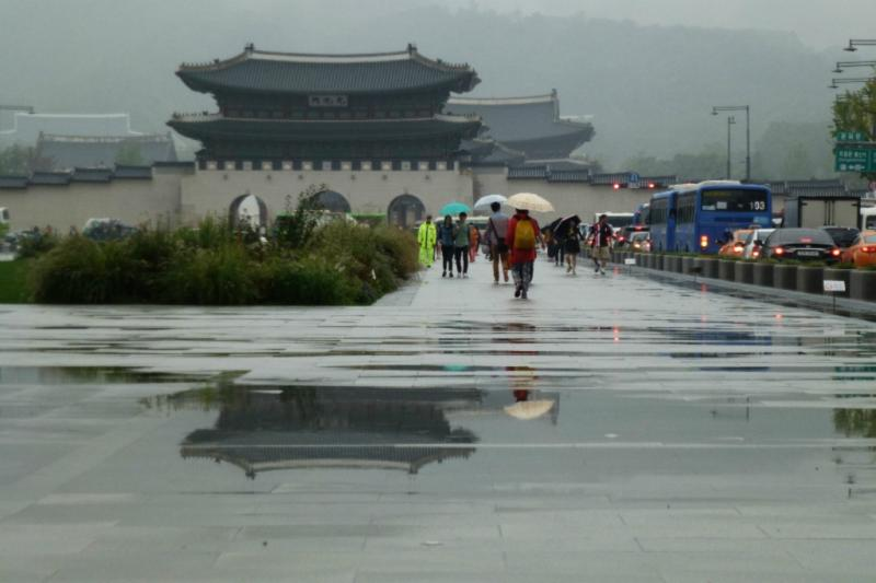 Das Gwanghwamun(Tor) zum Palast