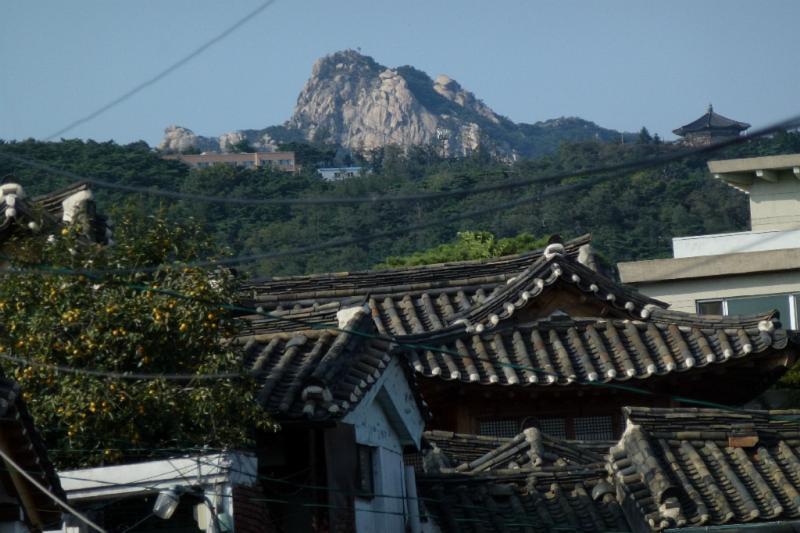 Die Bukhansan-Berge sind nicht weit