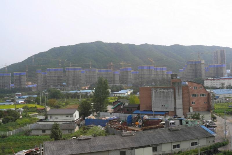 Neubau einer Wohnburg nahe Seouls