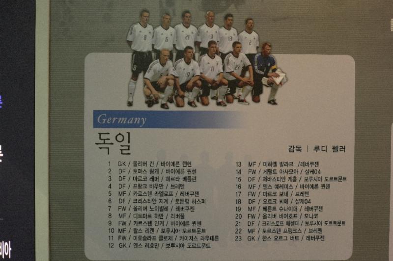 Deutsche Elf 2002, Koreanisch, zum üben :-)