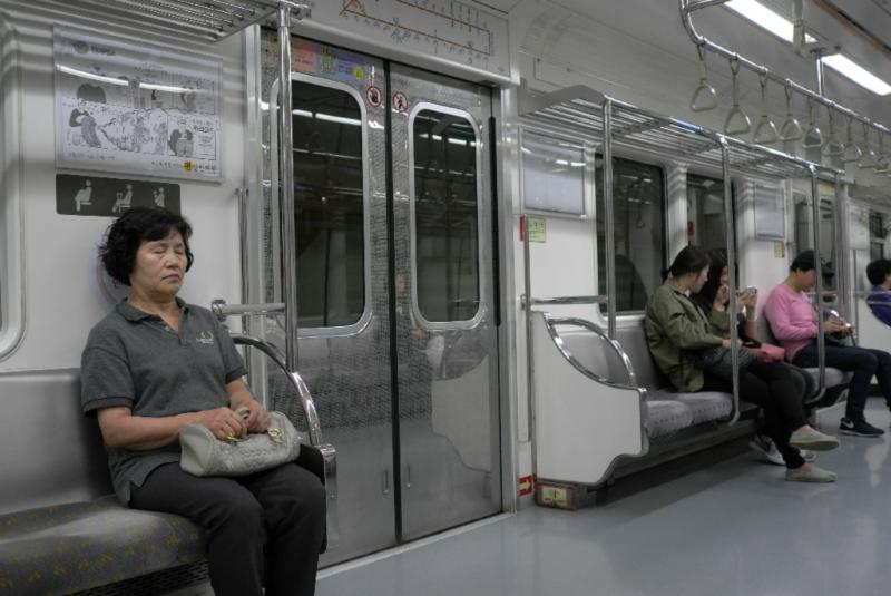 Feiertags-Ruhe in der U-Bahn
