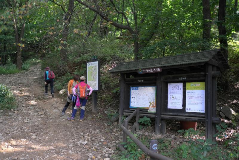 Hier beginnt der Trail in den Park