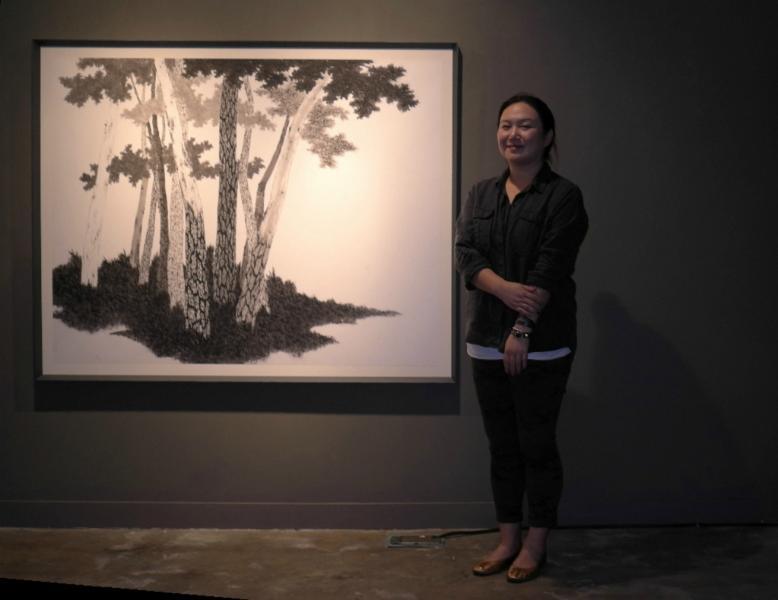 Kim Bo Mi, die Künstlerin...