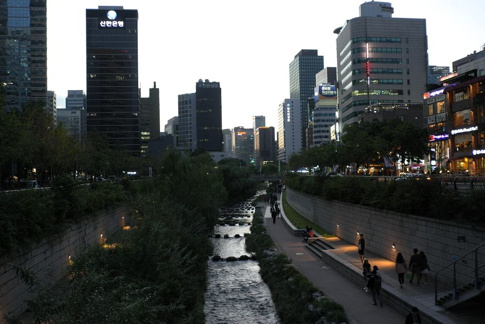 Abendliches Seoul