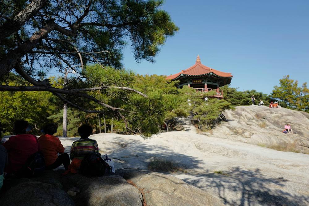Ziel erreicht: Berg-Pavillon 280m Höhe