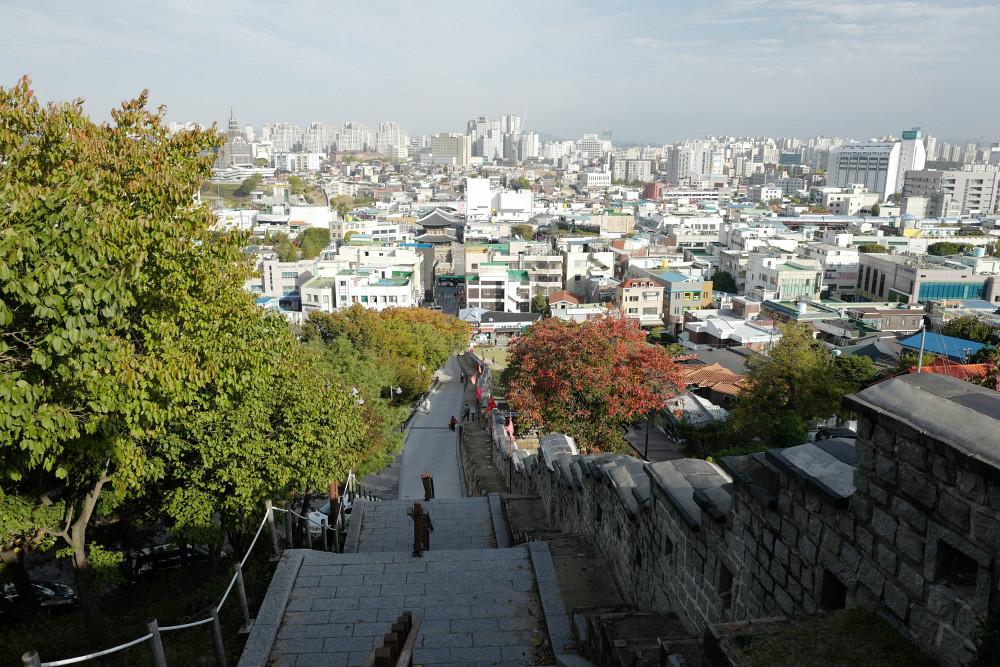 Abstieg von der Festung