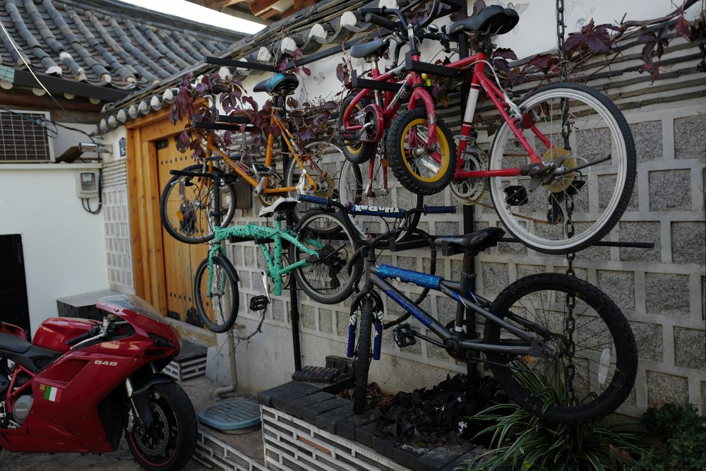 Fahrräder abstellen mal anders!