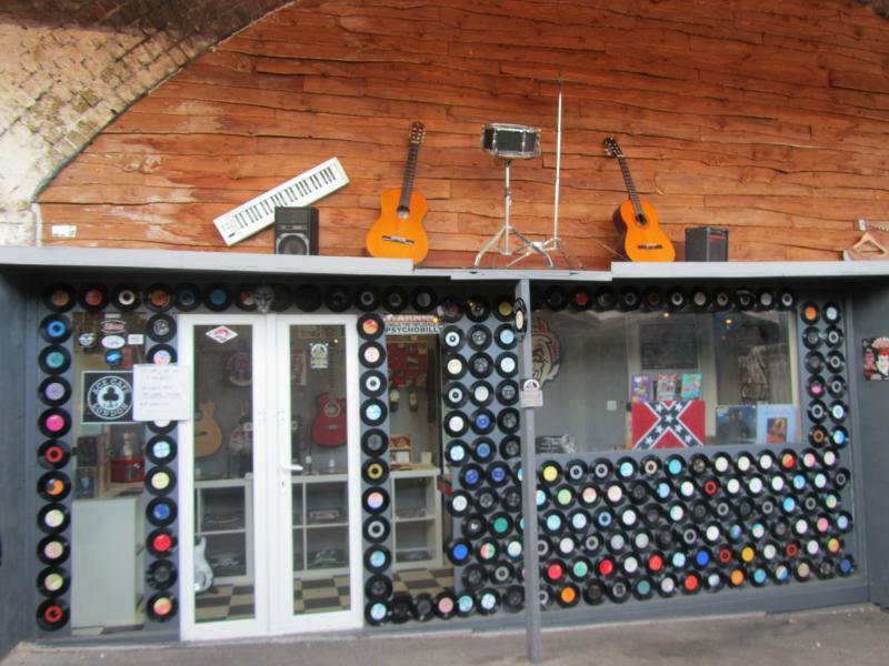 Musik-Lädchen auf dem Markt in Camden Town.