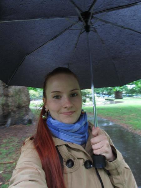 Der Regen macht mir nichts, nö nö nö.