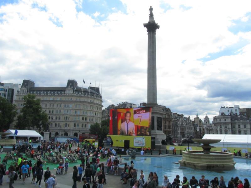 Trafalger Square mit Admiral Nelson