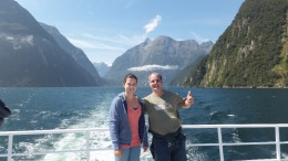 Milford sound Südinsel mit Papa