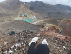 Tongariro alpine crossing- 8 Stunden Walk mit den steilsten Stücken, so kaputt wár ich noch nie