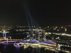 Blick auf Marina Bay Sands