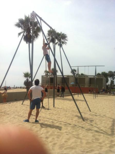Training in Venice Beach :D