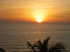 Sonnenuntergang nach einem heißen Tag