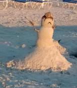 Schnee-Sand-Mann